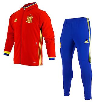 2016-2017 Spain Adidas Presentation Tracksuit (Red)