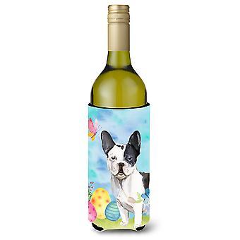 Black White French Bulldog Easter Wine Bottle Beverge Insulator Hugger