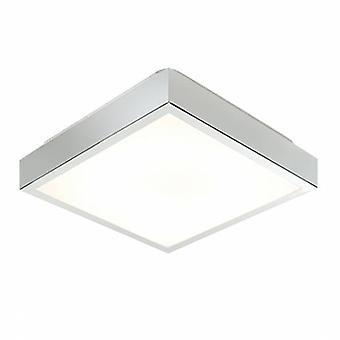 Baño empotrado luz de techo cromo, acrílico blanco mate IP44