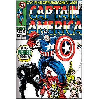 Magnet - Marvel - Captain America Cover Licensed Gifts Toys m-2171