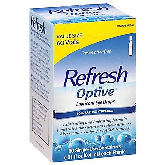 Refresh optive Schmiermittel Augentropfen, langanhaltende Hydratation, 60 ea