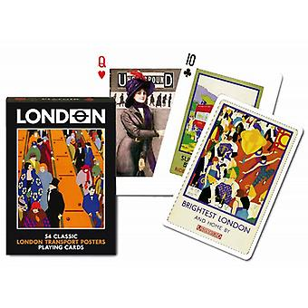 London Transport Posters set of playing cards    (gib)
