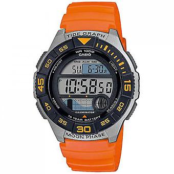 Casio WS-1100H-4AVEF Watch-Vintage Marine line multifunktions sinus orange bo Tier R sine