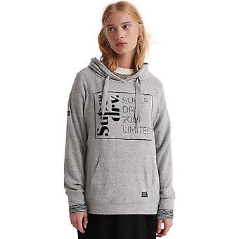 Superdry Supersoft Oversized Graphic Hoodie Light Grey 12