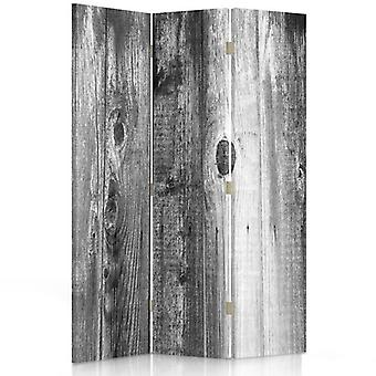 Room Divider, 3 Panels, Single-Sided, Canvas, Rustic Plank 2