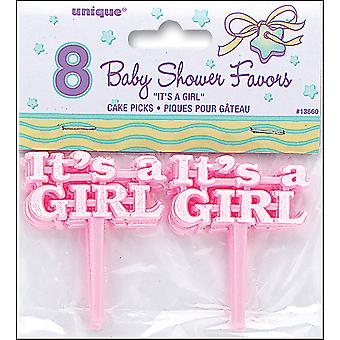 Pink It's A Girl Baby Shower Picks 2.5
