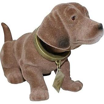 Dachshund bobble head (L x W) 17 cm x 8 cm Brown