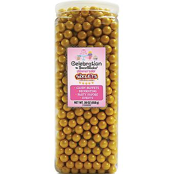 Celebrations By SweetWorks Sixlets(R) 30oz-Shimmer (TM) Gold CSX94609