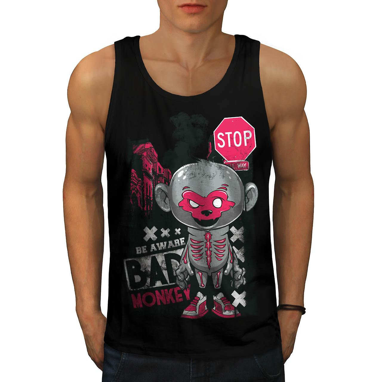 Horror Evil Monkey scimmia male Chimp uomini Tank Top nero | Wellcoda