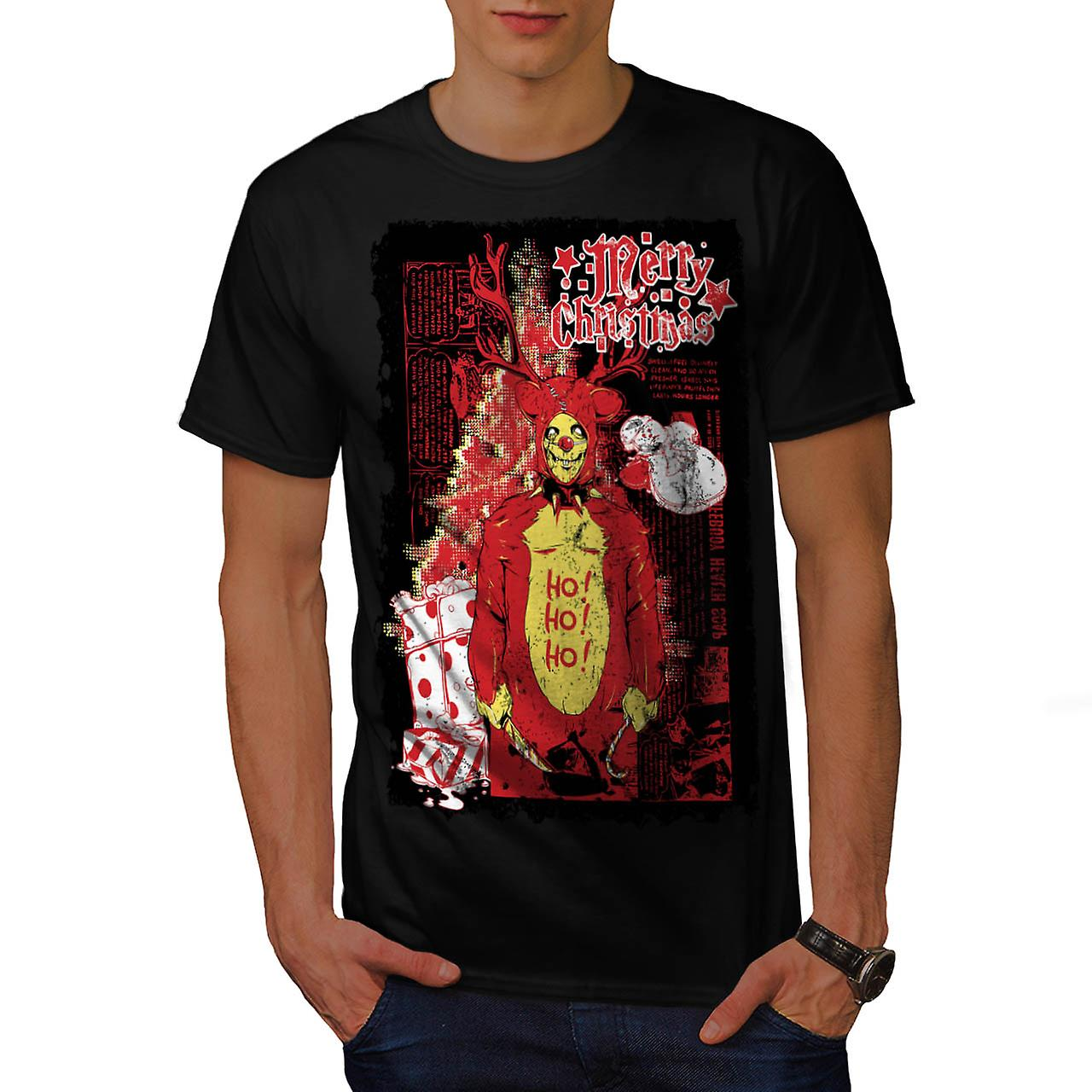 Zombie Horror Christmas Men Black T-shirt | Wellcoda