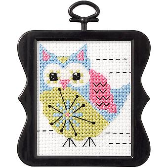 Beginner Minis Flower Owl Counted Cross Stitch Kit-3