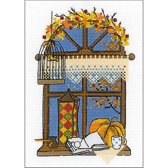 Autumn Window Counted Cross Stitch Kit-6