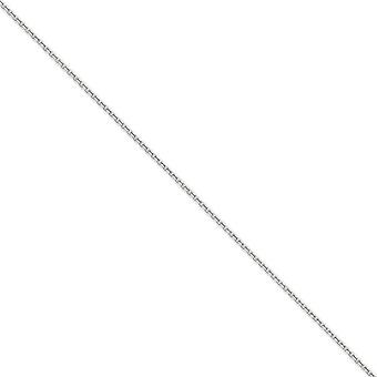 14k White Gold Solid Sparkle-Cut Lobster Claw Closure 1.8mm D-Cut Cable Chain Necklace - Lobster Claw - Length: 16 to 30