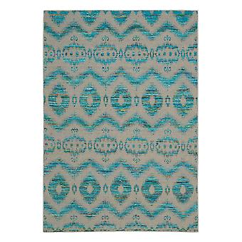 Spectrum Rugs Spe01 In Turquoise And Grey
