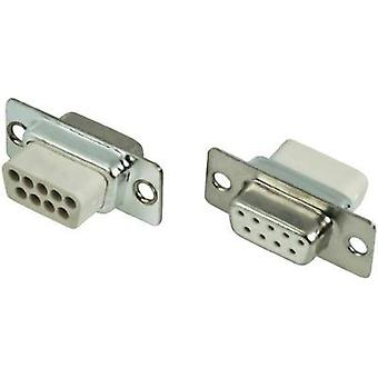 D-SUB receptacles 180 ° Number of pins: 9 Crimp MH Connectors MHDBC09SS-NW 1 pc(s)