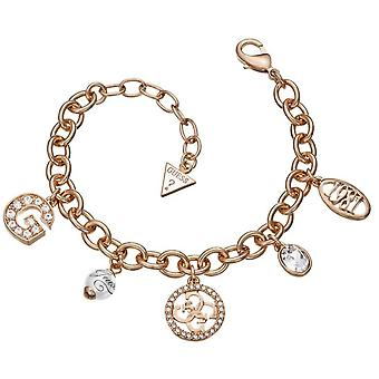 Guess ladies bracelet stainless steel of Rosé gold UBB51412