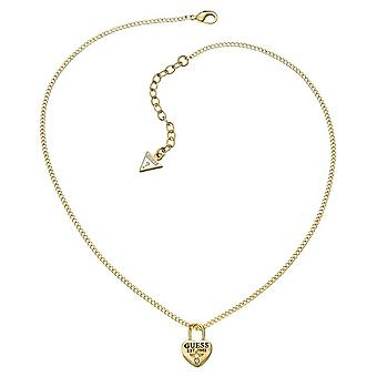 Guess ladies chain necklace stainless steel gold UBN51450