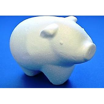 150mm Polystyrene Pig Shape to Decorate | Styrofoam Shapes for Crafts