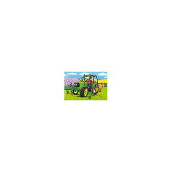 Floor puzzles tractor 40x60cm with tray