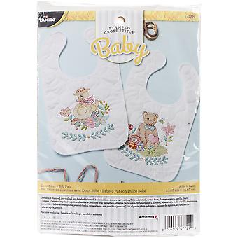 Sweet Baby Bibs Stamped Cross Stitch Kit-9
