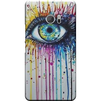 Capa Watercolor eyes para HTC 10