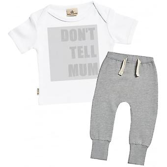 Spoilt Rotten Don't Tell Mum Baby T-Shirt & Joggers Outfit Set