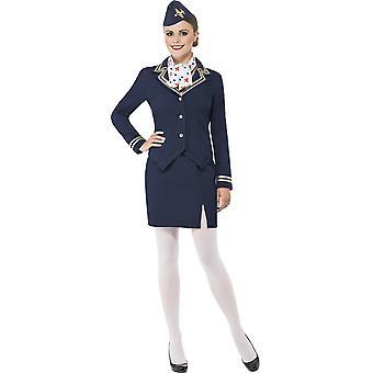 Women costumes  Stewardess fancy dress costume xl