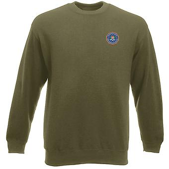 FBI Federal Bureau Investigation Embroidered Logo - Heavyweight Sweatshirt