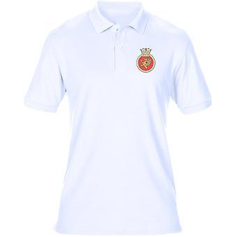 HMS Protector Embroidered logo - Official Royal Navy Mens Polo Shirt
