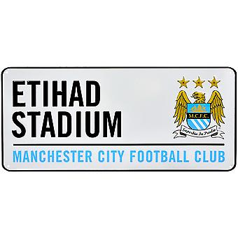 Manchester City FC Official Football Crest Street Sign