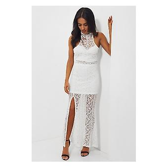 The Fashion Bible Lola White Lace Maxi Dress