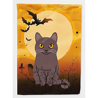 Carolines Treasures  BB4443GF Halloween Chartreux Cat Flag Garden Size