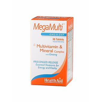Health Aid Mega-Multi's (with Ginseng), 30 Tablets