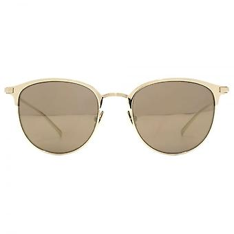 Saint Laurent SL 48 T Sunglasses In Gold Bronze Mirror