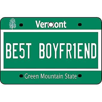 Vermont - Best Boyfriend License Plate Car Air Freshener
