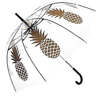Straight Clear Umbrella (Gold Pineapple)
