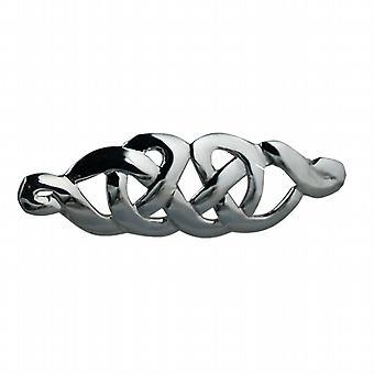13x41mm diseño de nudo céltico broche de plata