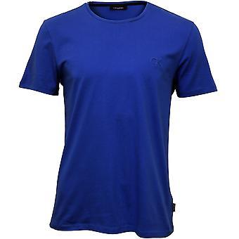 Calvin Klein Jari in rilievo t-shirt girocollo, Olympian Blue