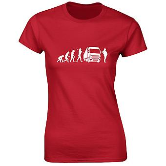 Trucking Evo Evolution Funny Womens T-Shirt 8 Colours by swagwear