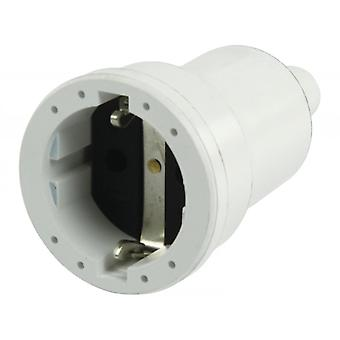 AC Power Plug Schuko/Type F (CEE 7/7) Cup 16 a. White