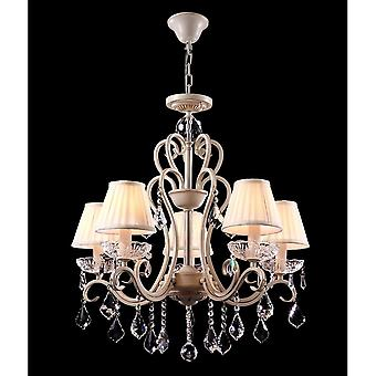 Maytoni Lighting Triumph Elegant Collection Chandelier, Cream Gold