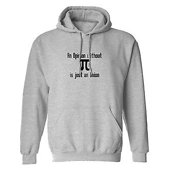 And Opinion Without Pi Is An Onion Graphic Men's Sports Grey Hoodie