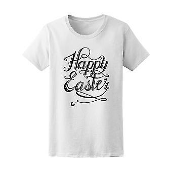27fe53811b1a8a Vintage Frohe Ostern Wirbel Zitat T-Shirt Damen-Bild von Shutterstock