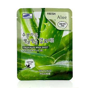 3w Clinic Mask Sheet - Fresh Aloe - 10pcs