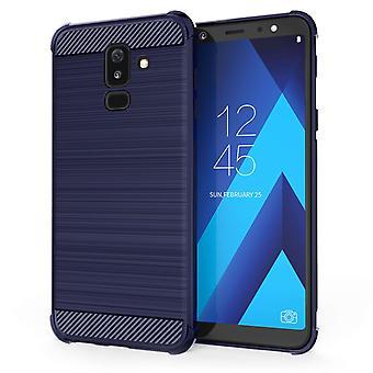 Samsung Galaxy A6 Plus (2018) Carbon Anti Fall TPU Case - Blue
