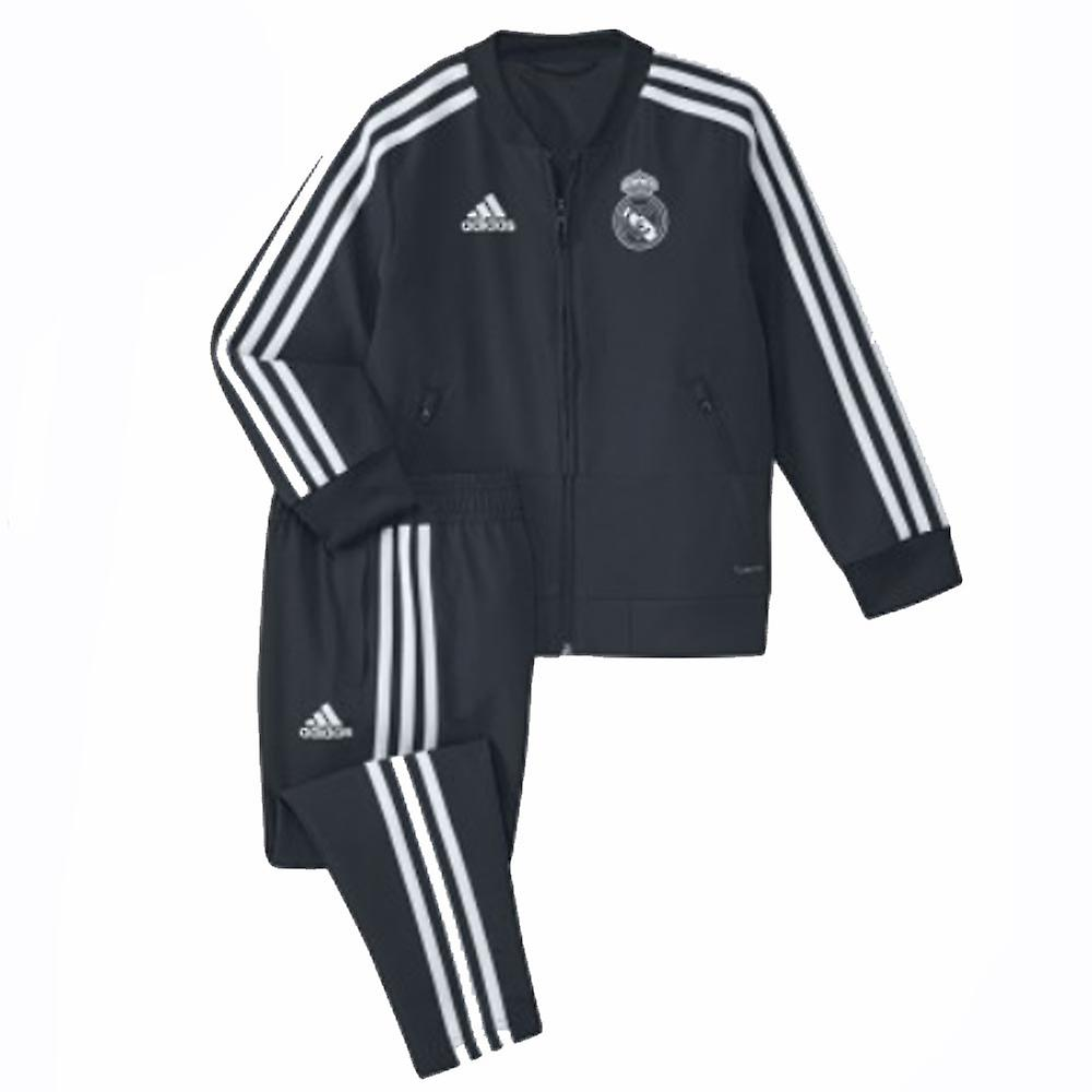 2018-2019 real Madrid Adidas Mini Presentation survêteHommest (gris foncé) - nourrissons