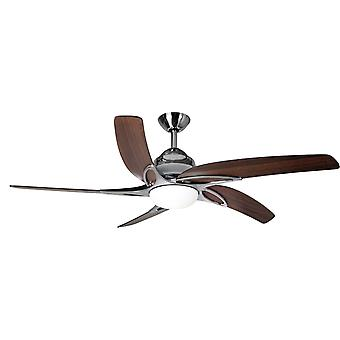Ceiling fan Viper Steel / Oak with Light 112 cm / 44