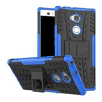 Hybrid Case 2teilig Robot Blau für Sony Xperia XA2 Tasche Hülle Cover Schutz