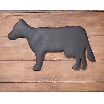 Irvin's Country Tinware Cow Wall Hanger in Textured Black