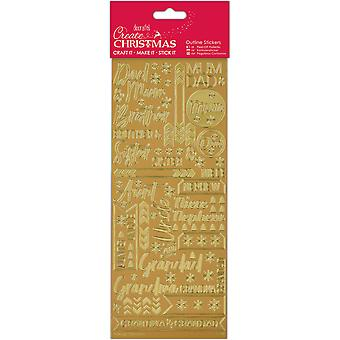 Papermania Outline Stickers-Contemporary Christmas Relations -Gold